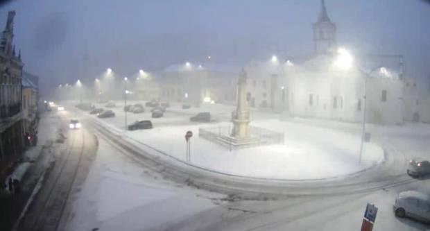 Snježna mećava nad Požegom
