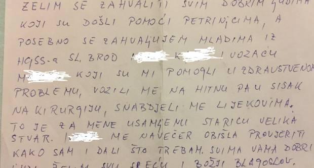 HGSS na ponos Slavonskog Broda: ʺTo je za mene usamljenu staricu velika stvarʺ