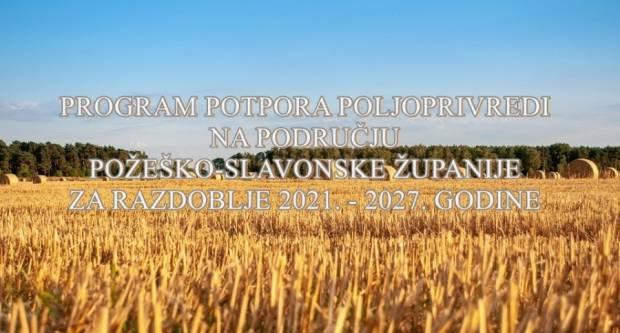 Javni pozivi temeljem programa potpore poljoprivredi