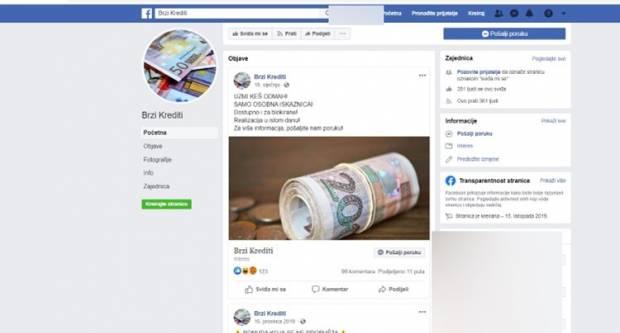 Policija poziva sve koji su komunicirali s ovim stranicama na Facebooku da se jave
