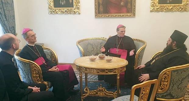 Nadbiskup Hranić u posjetu osječko-poljskom i baranjskom episkopu Heruvimu