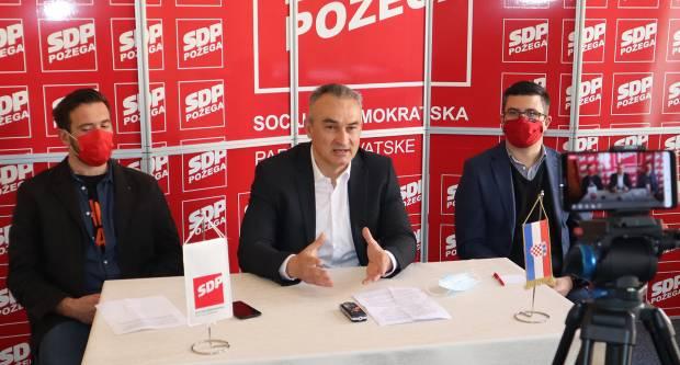 SDP Požega: Projekt Slavonija Baranja i Srijem je promašeni projekt koji ne razvija istok Hrvatske