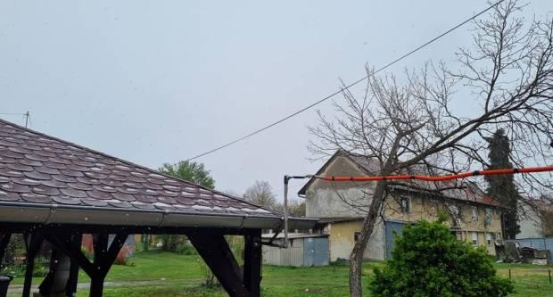 STIGLA PROMJENA VREMENA: Snijeg od jutra pada i u Slavonskom Brodu!