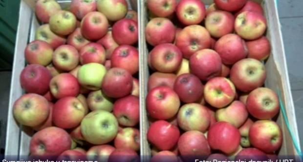 Sumnjive jabuke u trgovačkim lancima