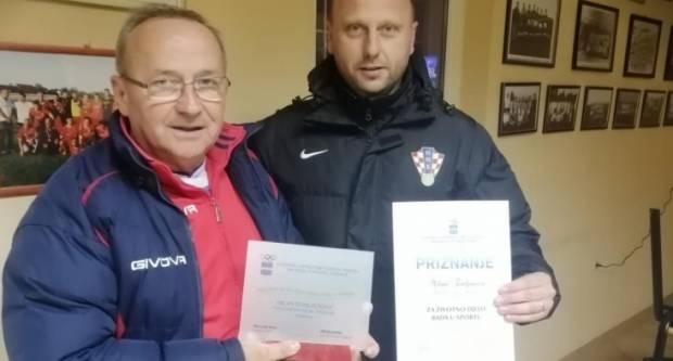 Požeški nogometni trener Milan Tomljenović dobio nagradu za životno djelo od Zajednice športskih udruga i saveza Brodsko - posavske županije
