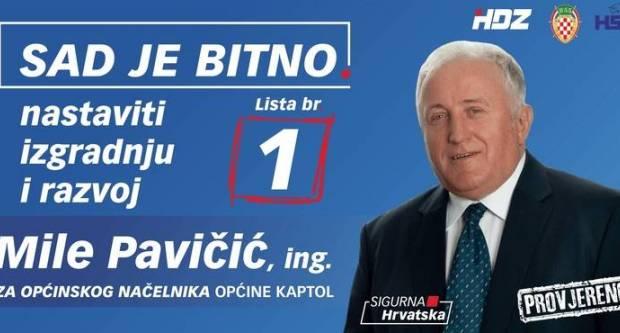 Mile Pavičić sigurno prema sedmom mandatu načelnika Općine Kaptol