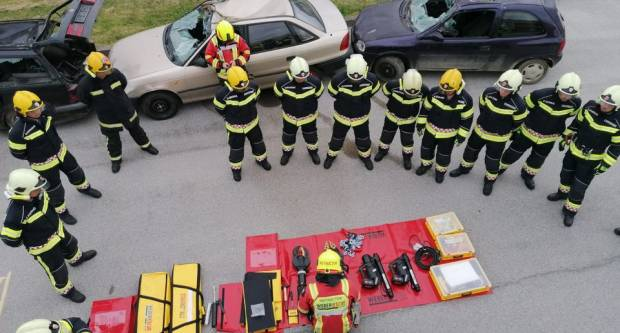 Požeški vatrogasci odradili svoju prvu vježbu s novom opremom