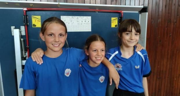 Najmlađe kadetkinje Stolnoteniskog kluba Požega plasirale se na državno ekipno prvenstvo