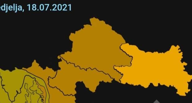 Izdano narančasto upozorenje za Slavonski Brod i cijelu Slavoniju