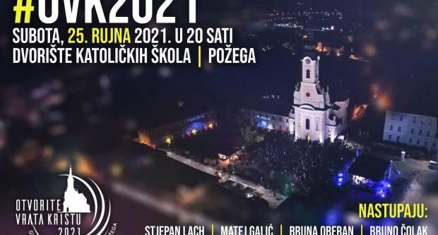 """Glazbeno-duhovni program mladih u Požegi """"Otvorite vrata Kristu 2021."""""""