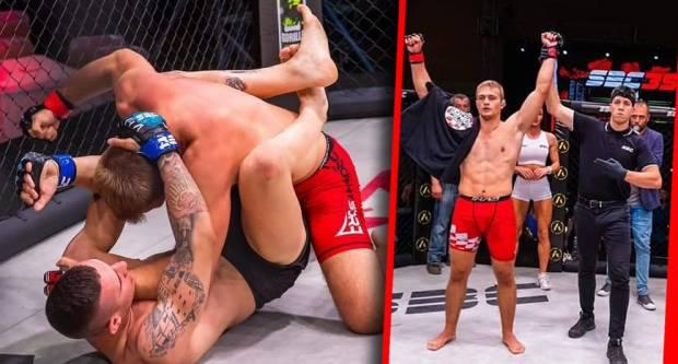 Pakrački MMA borac Leon Krajačić pobjedio na MMA turniru u Samoboru