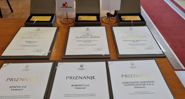 Uručena priznanja najuspješnijim tvrtkama Vukovarsko-srijemske županije u 2020. godini