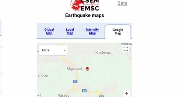 Noćas oko 4 sata dogodio se potres kod Migalovaca