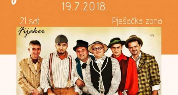Svi ste pozvani na koncert TS ʺFijakerʺ u organizaciji pizzerije ʺMama Miaʺ i slastičarnice ʺDolce Vitaʺ 19. srpnja od 21 sat