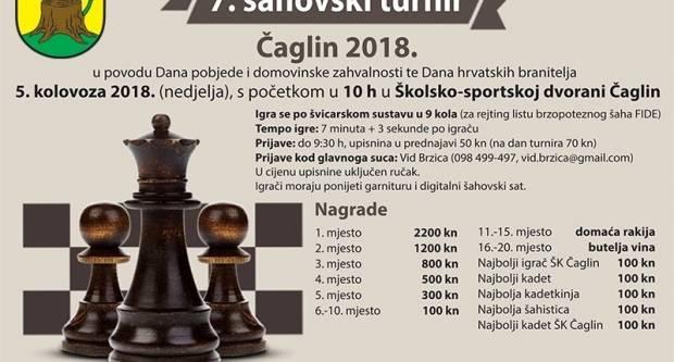 Sutra u Čaglinu 7. Šahovski turnir
