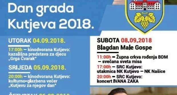 Večeras koncert Ivana Zaka i utakmica između NK Kutjevo i NK Našk