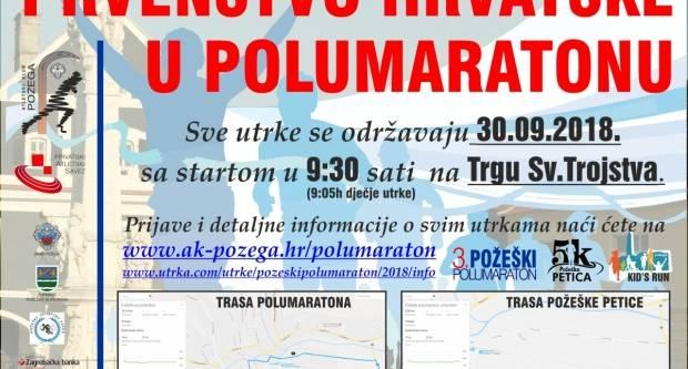 Prvenstvo Hrvatske u polumaratonu održat će se u nedjelju 30. rujna