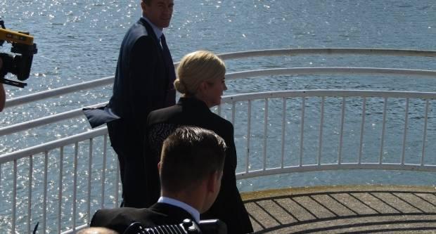 Predsjednica otišla vidjeti masnu mrlju na Savi koje više nije bilo