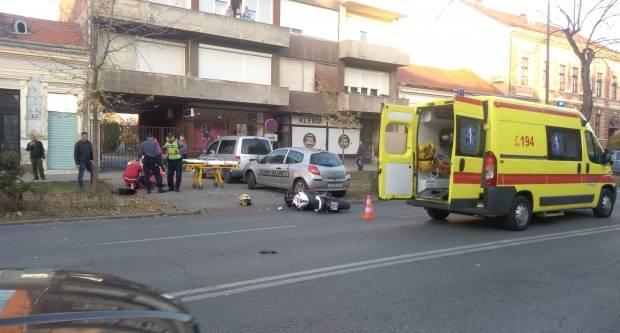Prometna nesreća u ulici Petra Krešimira