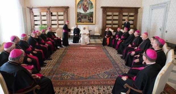 Susret pape Franje i hrvatskih biskupa