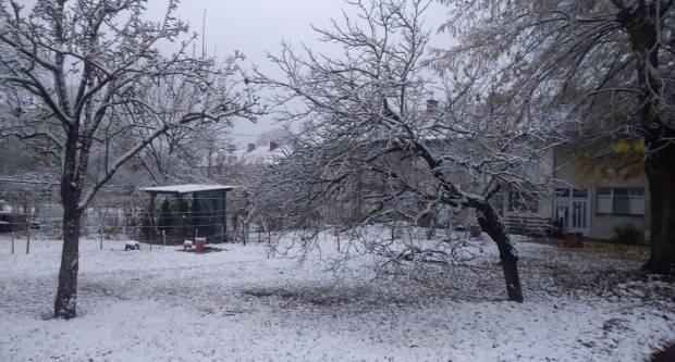 Snježno jutro u Slavonskom Brodu