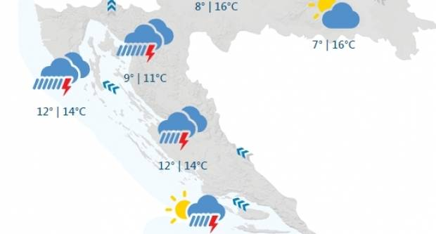 Danas sunčano, sutra moguća kiša