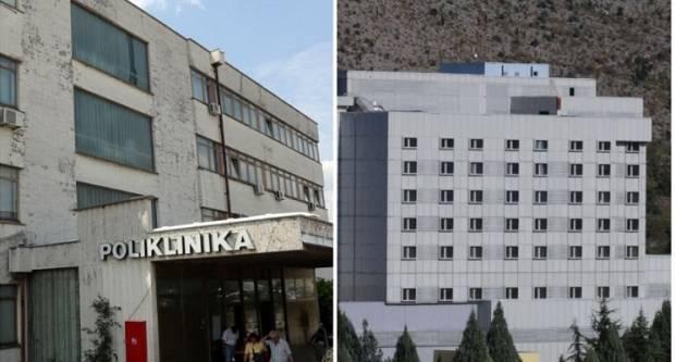 Lijevo je bolnica u Rijeci, a desno ona u Mostaru za koju je Vlada jučer dala 40 milijuna kuna