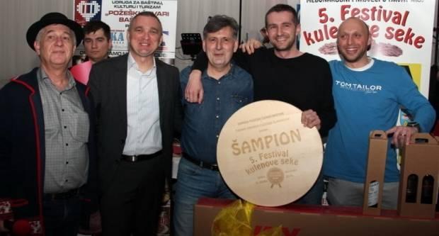 Šampion kulenova seka Mate Vukovića iz Požege, vicešampion Mario Vranješ iz Josipovca