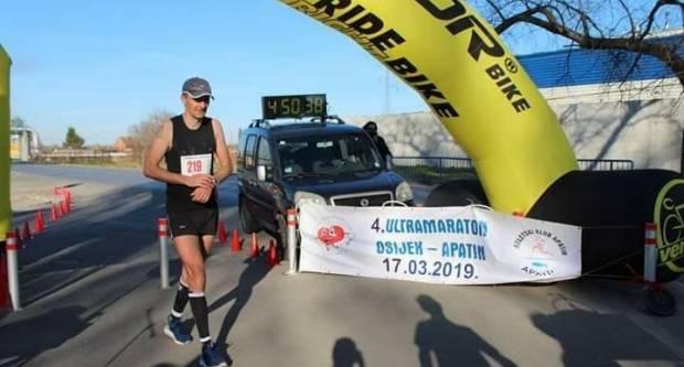 Goran Ugrčić peti na ultramaratonu Apatin- Osijek