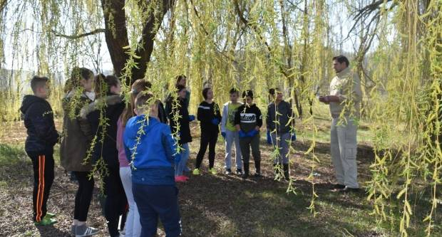 Povodom Dana vode mali Brestovčani čistili vodotok Orljavicu ispod škole