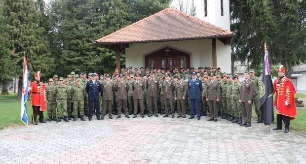 Svečanost završetka 14. naraštaja Izobrazbe za razvoj vođa HVU-a u vojarni 123. brigade u Požegi