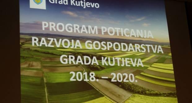 Predstavljen Program poticanja razvoja gospodarstva Grada Kutjeva