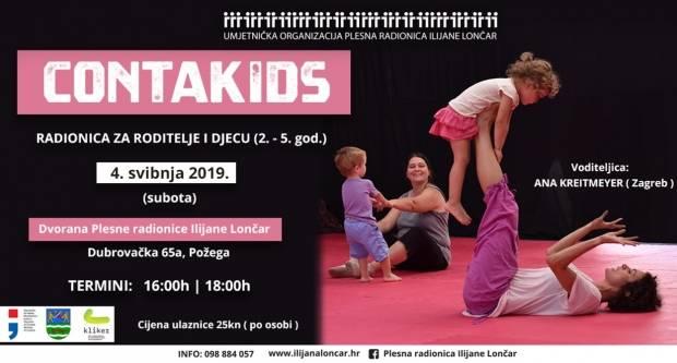 ContaKids- plesna radionica za djecu i roditelje održava se u subotu u Požegi