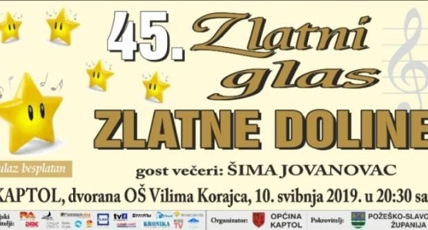 Danas će se održati jubilarni 45. Festival tamburaških pjesama ʺZlatni glas zlatne doline 2019.ʺ