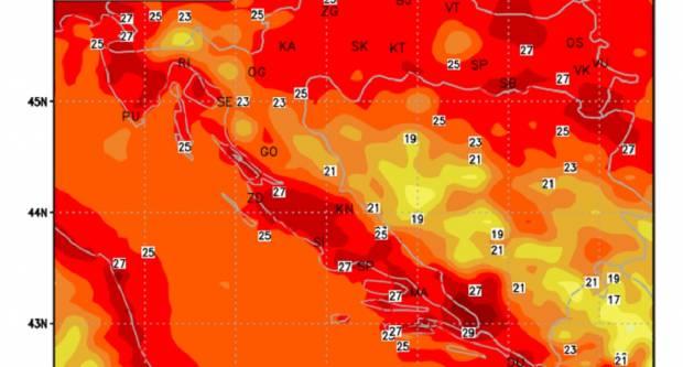 Do kraja tjedna iznimno vruće, a za vikend grmljavinske oluje