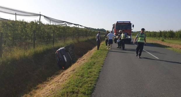 Za jučerašnje slijetanje u Marindvoru kriva brzina, 41-godišnja vozačica lakše ozlijeđena