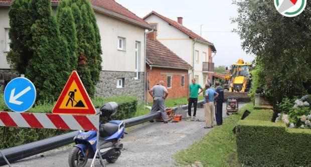 Započeli radovi u Ulici Đure Salaja u Dobrovcu
