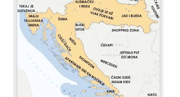 Jedan je Slavonac napravio svoju kartu Hrvatske- nazivi će vas nasmijati do suza