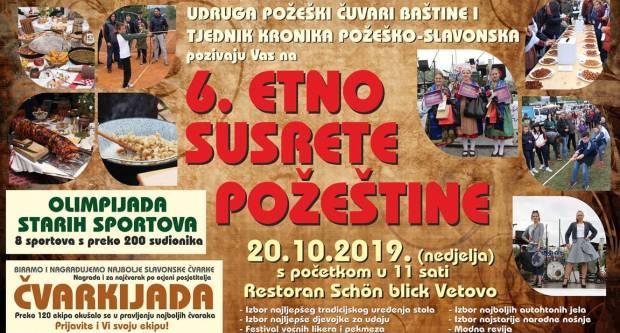 20. listopada održat će se 6. Etno susreti Požeštine, Čvarkijada i Šokački vašar