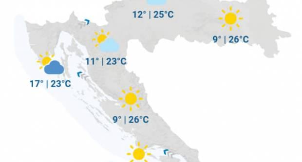 Vrijeme danas pretežno sunčano i toplo