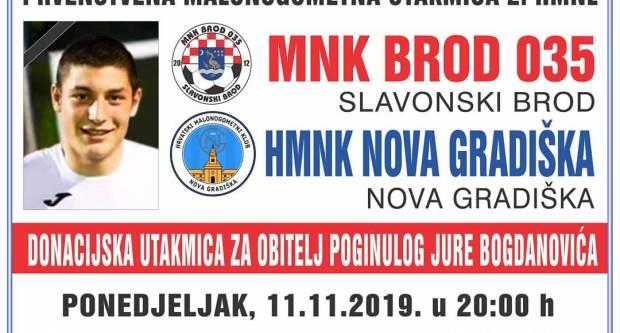 Sav prihod od prodanih ulaznica donirat će se obitelji Jure Bogdanovića