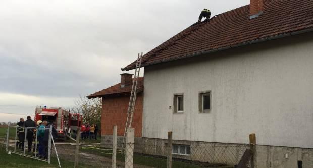Požar obiteljske kuće u Kaptolu