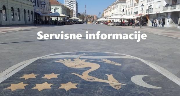 Servisne informacije NEDJELJA 15. travanj 2018.