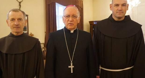 Generalni vizitator zagrebačke Franjevačke provincije posjetio biskupa Škvorčevića