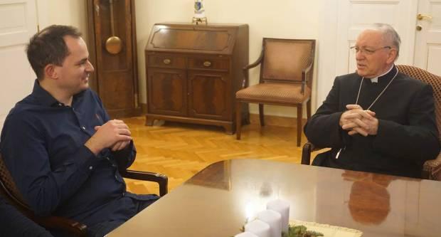 Biskup Antun Škvorčević u Biskupskom domu u Požegi primio ministra uprave Republike Hrvatske