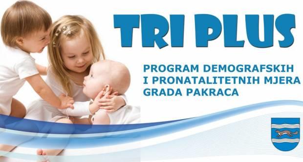 """U Pakracu se nastavlja program """"TRI PLUS"""" - demografska i pronatalitetna mjera Grada Pakraca"""
