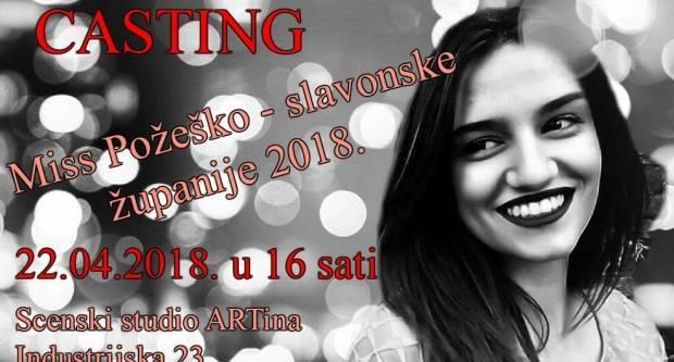 CASTING – Miss Požeško – slavonske županije 2018.