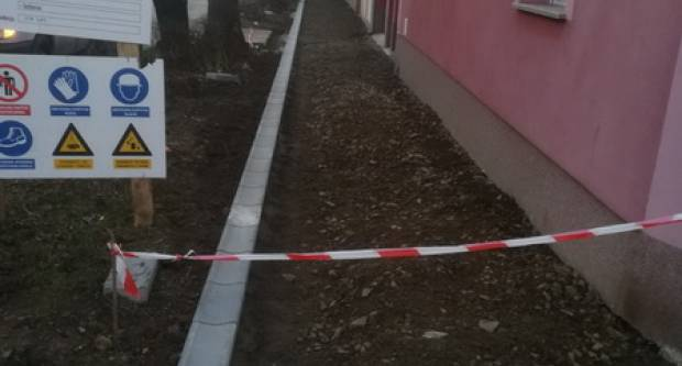 Nastavak radova na pješačkoj stazi u Ulici Augusta Cesarca