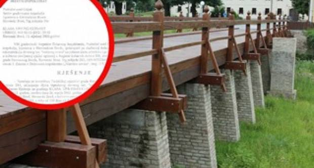 Rušenje ovog mosta naredila je državna inspektorica. Amen!