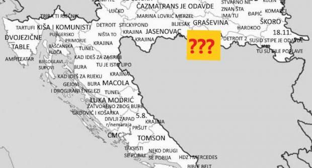 Pogledajte kakvo je ime jedan Dalmatinac dao Slavonskom Brodu na svojoj karti Hrvatske